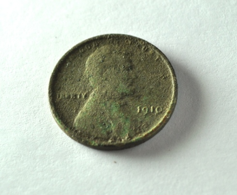 1910 Lincoln cent. No mint mark