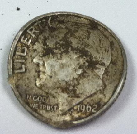 1962 silver dime