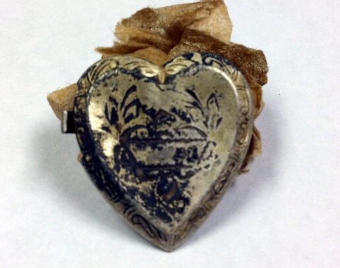 Part of a silver locket