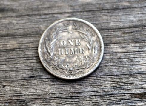 1911 Barber dime reverse