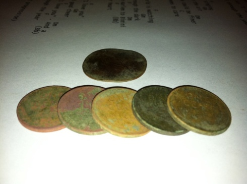 five wheat cents