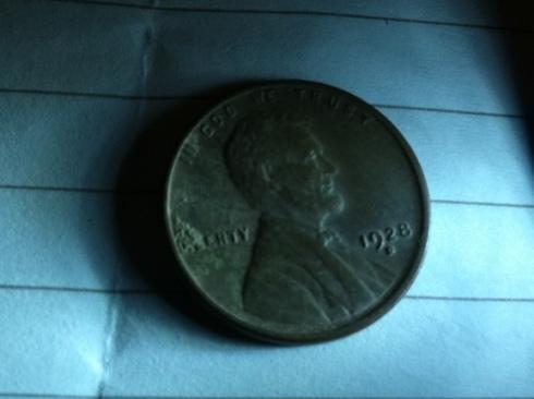 1928D wheat cent