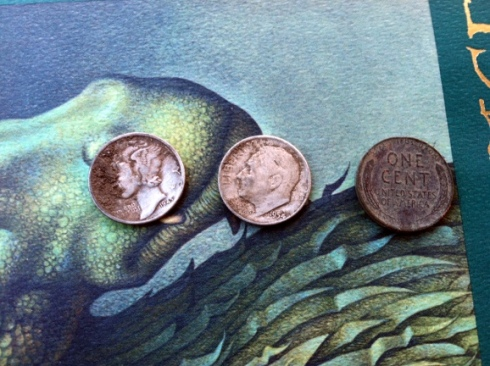 1945 Mercury dime and 1954 Roosevelt dime