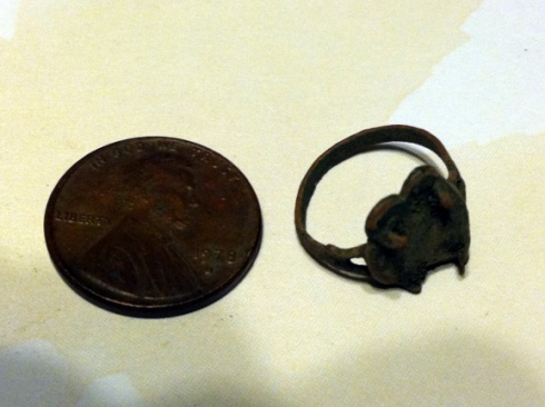 Antique copper child's ring