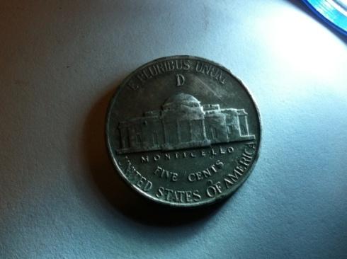 Reverse 1944 D nickel