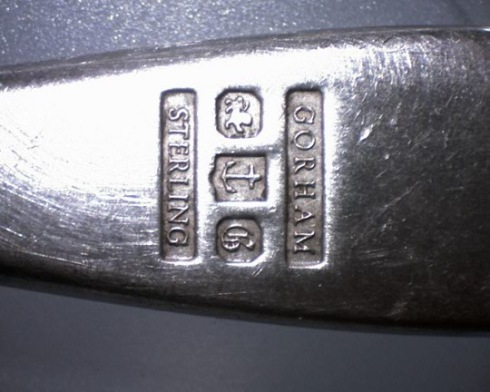 Spoon silver stamp