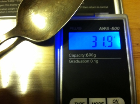 31.9 grams of silver