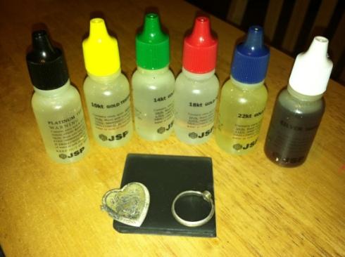 gold testing kit