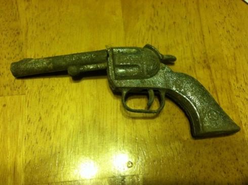 old toy revolver