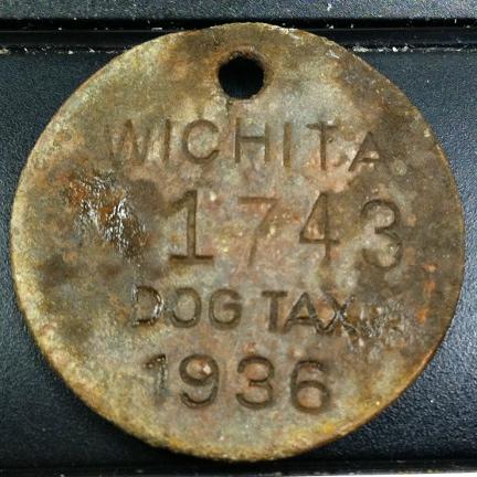 Wichita 1936 dog tax tag