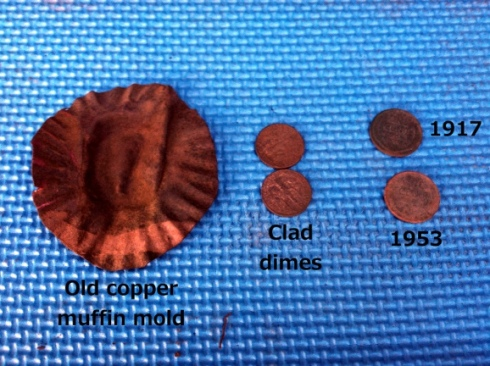 various metal objects and coins