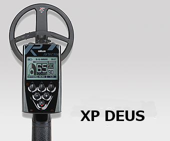 top view of XP Deus metal detector