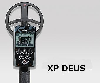 top view of XP Deus metal detector