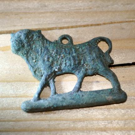 Bull Durham tobacco logo pendant