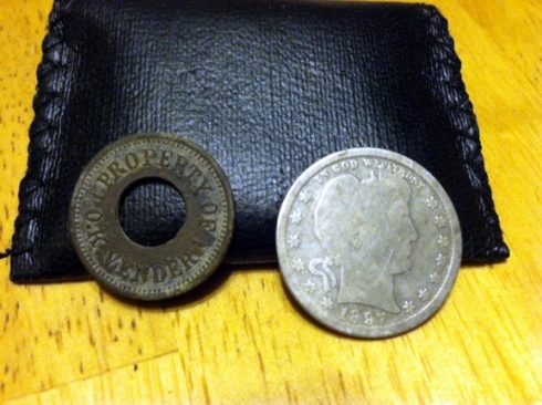trade token and Barber quarter
