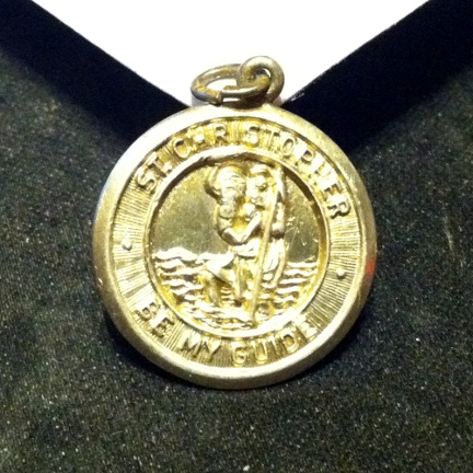 Saint Christopher medallion clean, front