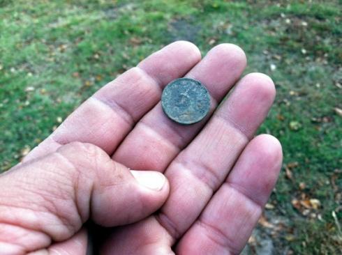 1907 Indian Head cent in situ